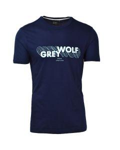 Shop Grey Wolf 3D Logo T-shirt Mens Navy at Studio 88 Online