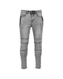 Shop Nautic Spirit Biker Jeans Zip Mens Grey Wash at Studio 88 Online