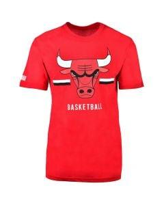 Shop NBA Bulls Icon Logo Straight Hem Large Printed T-shirt Mens Red at Studio 88 Online