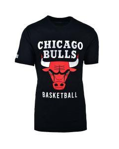 Shop NBA Bulls Icon Logo Straight Hem Printed T-shirt Mens Black at Studio 88 Online