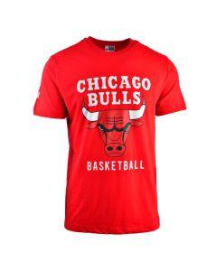 Shop NBA Bulls Icon Logo Straight Hem Printed T-shirt Mens Red at Studio 88 Online