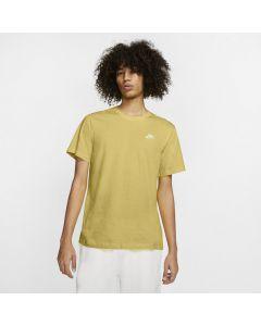 Shop Nike Club T-shirt Mens Saturn Gold at Studio 88 Online