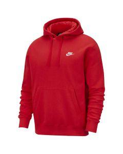 Shop Nike Club Fleece Pullover Hoodie Men University Red at Studio 88 Online