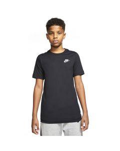Shop Nike Futura Embroidered Logo T-shirt Youth Black White at Studio 88 Online