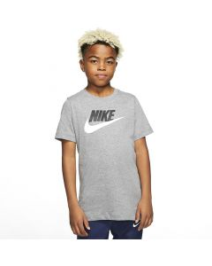 Shop Nike Cotton T-Shirt Youth Carbon Heather Grey White at Studio 88 Online