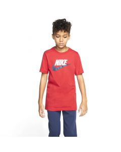 Shop Nike Sportswear Icon Futura T-shirt Youth Red White at Studio 88 Online