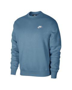Shop Nike Club Fleece Crew Sweater Mens Cerulean White at Studio 88 Online