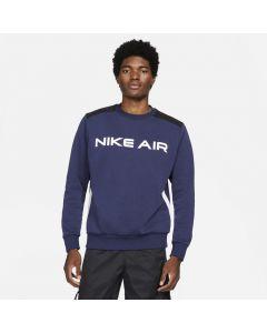 Shop Nike Air Mens Fleece Crew Sweater Mens Midnight Navy Black White at Studio 88 Online