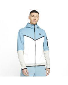 Shop Nike Tech Fleece Full-Zip Hoodie Men Cerulean White Grey Black at Studio 88 Online