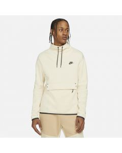 Shop Nike Tech Fleece Mens Long-Sleeve Funnel Neck Top Mens Beach Black at Studio 88 Online