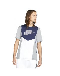 Shop Nike Hybrid T-Shirt Mens White Grey Navy at Studio 88 Online