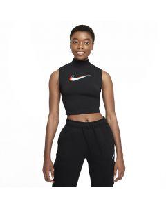 Shop Nike Mock-Neck Print Tank Top Womens Black at Studio 88 Online