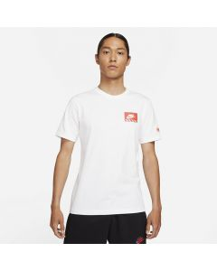 Shop Nike Printed Air Figure Graphic Woven Jock Tag T-shirt Mens White at Studio 88 Online