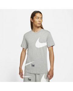 Shop Nike STMT Large Logo Print T-shirt Mens Dark Grey at Studio 88 Online