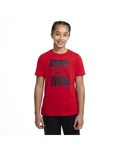 Shop Nike Sportswear T-shirt Youth Stack Red Black at Studio 88 Online