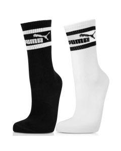 Shop Puma Graphic Anklet Socks 2 Pack White Black at Studio 88 Online