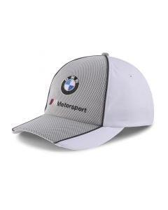 Shop Puma BMW M Motorsport Baseball Cap White Grey at Studio 88 Online