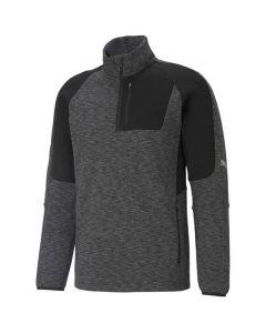 Shop Puma Evostripe Half-Zip Sweater Mens Black at Studio 88 Online
