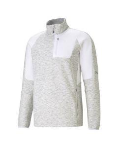 Shop Puma Evostripe Half-Zip Sweater Mens White at Studio 88 Online