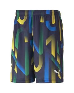 Shop Puma Neymar Jr. Future Printed Football Youth Shorts Navy at Studio 88 Online