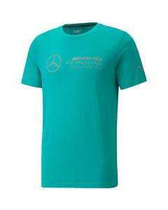Shop Puma Mercedes AMG Petronas F1 Logo T-shirt Mens Spectra Green at Studio 88 Online