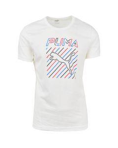 Shop Puma Slim Fitted T-shirt Mens White at Studio 88 Online