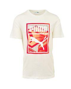 Shop Puma Graphic Box Logo Play T-shirt Mens White at Studio 88 Online