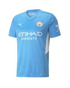 Shop Puma Manchester City 2021/2022 Home Replcia Jersey Sponsor Logo Blue White at Studio 88 Online