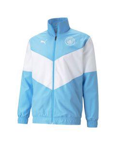 Shop Puma Manchester City 2021/2022 Pre-Match Jersey Blue White at Studio 88 Online
