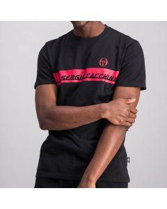 Shop Sergio Tacchini Logo Block T-shirt Mens Anthracite Black Red at Studio 88 Online