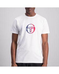 Shop Sergio Tacchini Round Logo T-shirt Mens Blanc De Blanc White at Studio 88 Online
