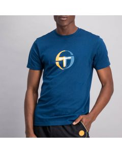 Shop Sergio Tacchini Round Logo T-shirt Mens Gibraltar Sea Blue at Studio 88 Online