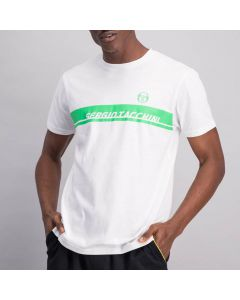 Shop Sergio Tacchini Logo Block T-shirt Mens White Green at Studio 88 Online