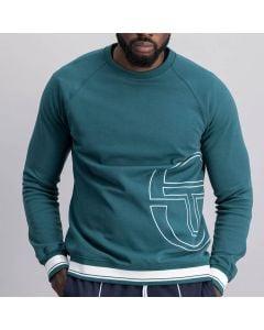 Shop Sergio Tacchini Embroidered Sweatshirt Mens Deep Teal at Studio 88 Online