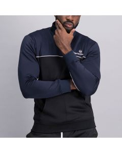 Shop Sergio Tacchini Polo Neck Sweatshirt Men Black Night Sky at Studio 88 Online