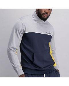 Shop Sergio Tacchini Polo Neck Sweatshirt Men Nightsky Light Grey at Studio 88 Online