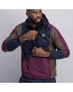 Shop Sergio Tacchini Panelled Hoodie Jacket Men Black Olive Waterbloom at Studio 88 Online