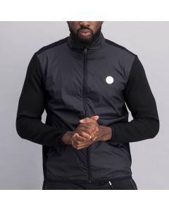 Shop Sergio Tacchini Mixed Fabrication Jacket Mens Black Night Sky at Studio 88 Online