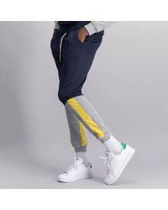 Shop Sergio Tacchini Panelled Track Pants Mens Night Sky Light Grey at Studio 88 Online