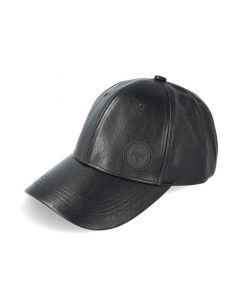 Shop Sergio Tacchini Synthetic Leather Cap Anthracite Black at Studio 88 Online