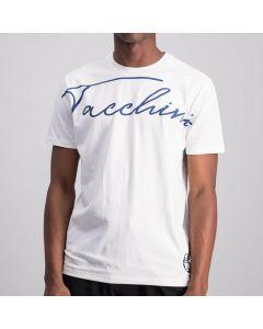 Shop Sergio Tacchini Flow Scrpt T-Shirt Mens White at Studio 88 Online