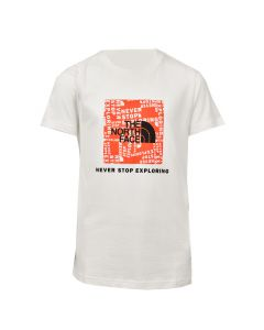 Shop The North Face Box T-shirt Mens White Red Orange at Studio 88 Online