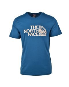 Shop The North Face Woodcut Dome T-shirt Mens Blue at Studio 88 Online