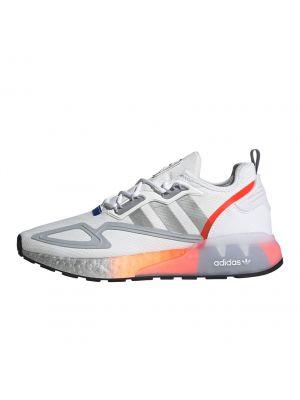 Shop adidas Originals ZX 2K Boost Sneaker Mens Fwtr White Metallic Silver Glory Blue at Studio 88 Online