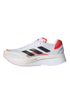 Shop adidas Performance Adizero Boston 10 Sneaker Mens Cloud White Solar Red at Studio 88 Online