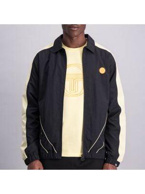 Shop Sergio Tacchini Classics Stripe Jacket Mens Anthr Lemon at Studio 88 Online