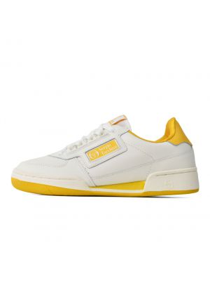 Shop Sergio Tacchini New Young Line Mens Sneaker White Spicy Mustard at Studio 88 Online