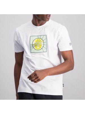 Shop Sergio Tacchini Tennis Lines Mens T-Shirt White at Studio 88 Online