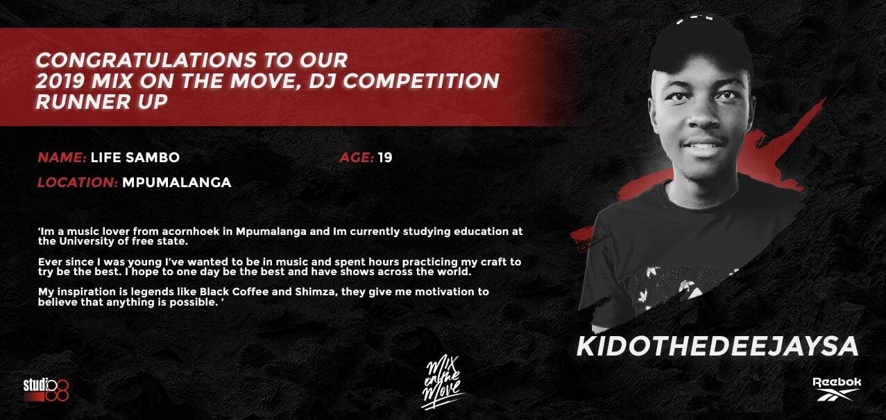 DJ Competition Runner-Up Banner